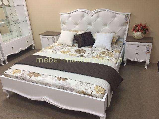 Кровать с мягким изголовьем Букет, Бучинский