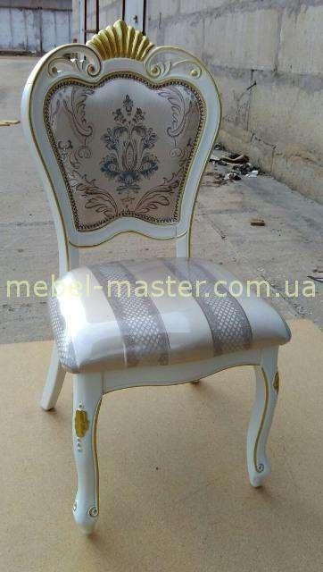 Белый стул 8041 с золотой короной, DAMING