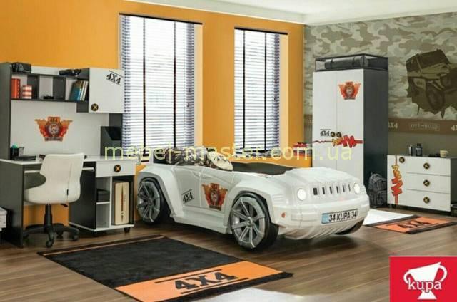 Белая кровать -машинка Джип, Турция