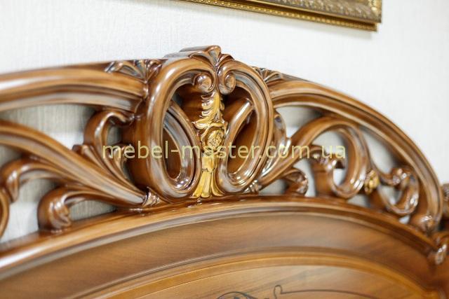Золотая патина кровати Алегко, Слониммебель