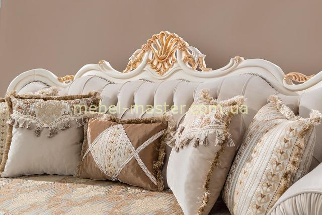 Резная золотая корона дивана Лена, Турция