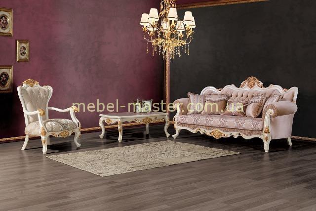 Прямой диван Лена в стиле барокко