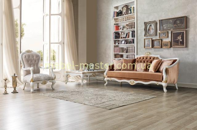 Теракотовый диван Мария в стиле барокко, Турция