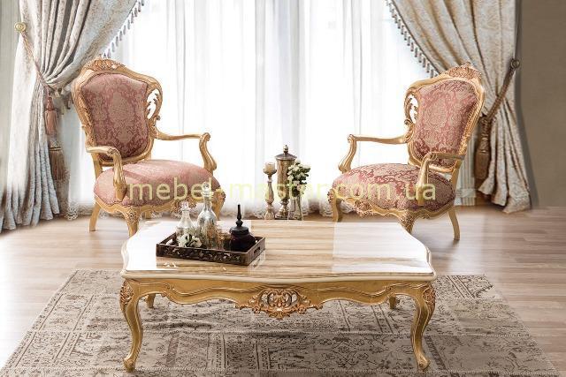 Кресла с деревянными подлокотниками Глори