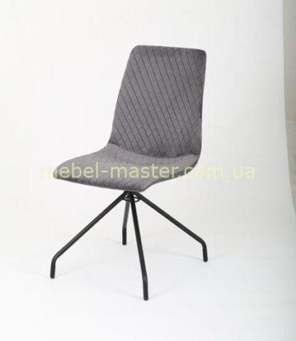 Серый обеденный стул Нола x-1775 с узором ромб, Топ мебель