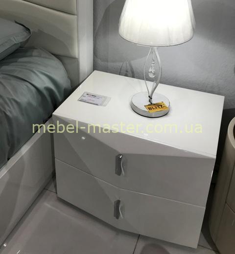 Белая прикроватная тумба для спальни Сиена ТОП Мебель