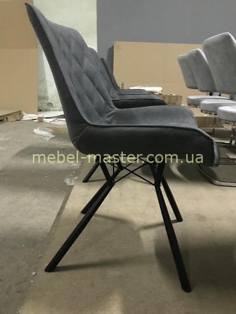 Черный стул Эвора из ткани в стиле модерн, ТОП АРТ